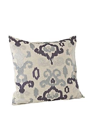 Saro Lifestyle Aqua Lily Anna Square Pillow