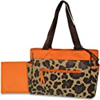 Gerber Diaper Tote Bag, Orange/Brown Cheetah