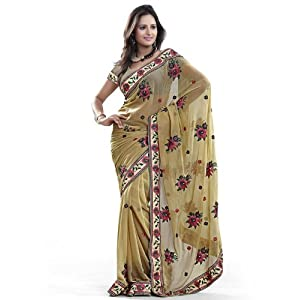 Pastel Embroidery Georgette Saree: Ws20382