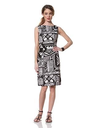 Chetta B Women's Aztec Printed Dress (Black/White)