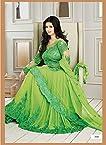 Rozdeal Ayesha Takia In Parrot Neck Floor Length Anarkali Suit