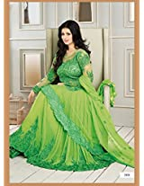 Ayesha Takia In Parrot Neck Floor Length Anarkali Suit