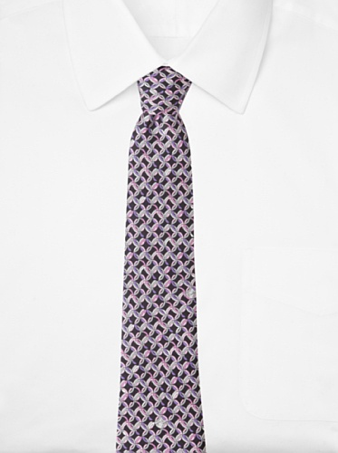 Emilio Pucci Men's Linked Circle Tie, Purple/Black