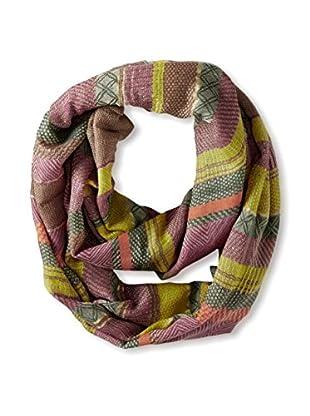 Saachi Women's Multi Stripe Infinity Scarf, Citron