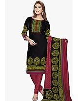 Black Printed Dress Material Salwar Studio