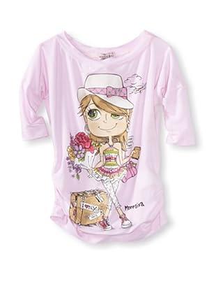 Monnalisa Girl's Girl Jetsetter Tee (Pink)