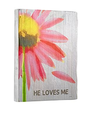 Lisa Weedn He Loves Me Reclaimed Finished Wood Portrait