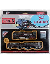 Light Gear Battery Operated Simulating Toy Train Track Set, Batteries Included