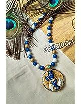 Aavarana terracotta Krishna necklace