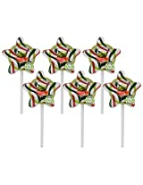 Kandee Starz Watermelon Twist (Pack of 6 Natural Colour Candy Lollipop)