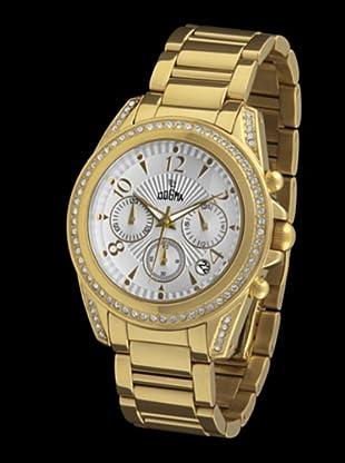 Dogma CRONO299 - Reloj de Caballero movimiento de quarzo con brazalete metálico blanco