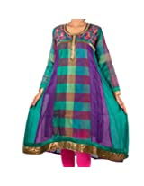 Mruga Womens Cotton Multi-Colored 38 Kurta