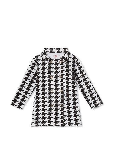 Soft Clothing Kid's Double-Breasted Houndstooth Jacket (Black/White)