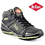 Lee Cooper Men's High Ankle Shoe 3568 Black/lime/green