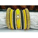 Silkthread bangles with pearl bangles