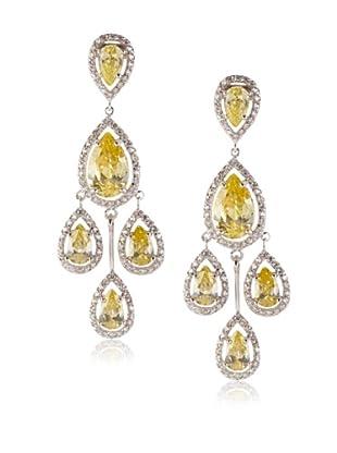 CZ By Kenneth Jay Lane Chandelier Earrings, Silver, One Size