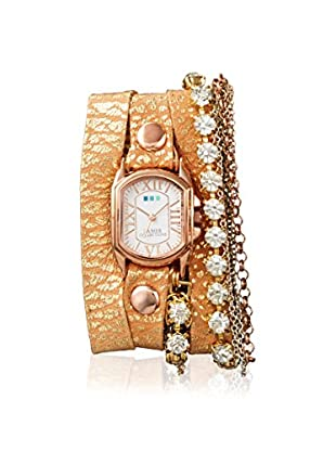 La Mer Collections Women's LMMULTI7620 Chateau Venice Gold-Tone Leather Watch