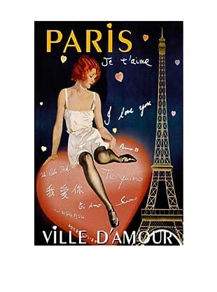 Paris I Love You Giclée Canvas Print