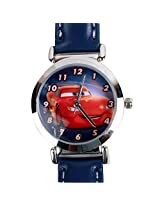 Disney Cars Lightning Mcqueen Kids Analog Watch - Blue
