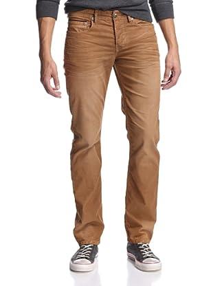 Stitch's Men's Barfly Slim Straight Corduroy Pant (Dark Goldenrod)