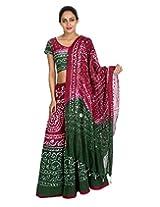 Rajrang Women Tie-Dye Lehenga Choli Magenta