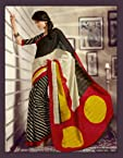 Bhagalpuri Silk Printed Black Saree