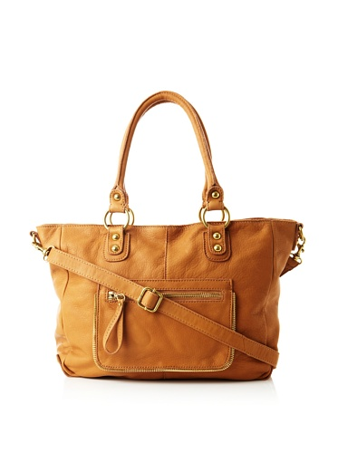 Linea Pelle Women's Dylan Intricate Zip Tote (Scotch)