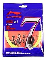 Li-Ning No 7 Badminton Racquet String (Yellow)