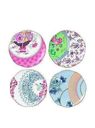 Wedgwood Butterfly Bloom Tea Plate 4 Piece Set, Multi