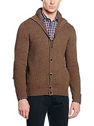 Hackett London Chaqueta Punto Lana May Mock Nk Cardi
