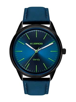 K&BROS 9486-5 / Reloj de Caballero  con correa de piel Azul