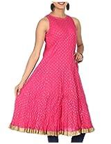 Rajrang Women's Printed Long Kurti (TOP05052_Pink_X-Large)