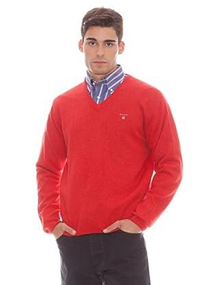 Gant Jersey Liso Pico (Rojo)
