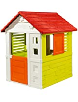 Smoby Natur Playhouse (Orange, Green, Red), Multi Color
