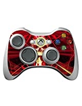Game Xcel Xbox 360 High Gloss Controller Skin Protective Vinyl Sticker For X360 Slim Wireless Game Controller X3 Controller Decal Skull Dark Red