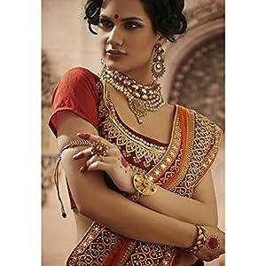 Dual color heavy sizzling lehenga saree-Frinkytown