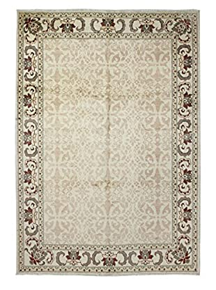 Bashian Rugs Hand Knotted One-of-a-Kind Mansehra Rug, Ivory, 5' 7