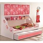Mebelkart Bunk Bed For Girls - Pink