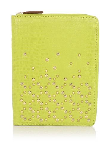 Be & D Women's Studded iPad Case (Lemongrass)