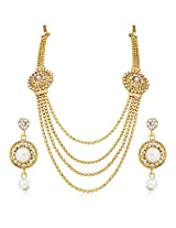 Meenaz Traditional Necklace Sets Jewellery Sets Gold Plated With Earrings For Women,Girls NL111