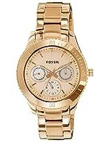 Fossil Stella Analog Gold Dial Women's Watch - ES2859