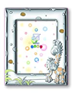 Silver Touch USA Sterling Silver Giraffe Picture Frame, Pink