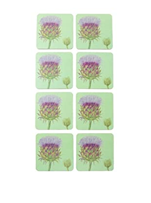 rockflowerpaper Set of 8 Cardoon Drink Coasters
