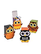 Cardboard Halloween Owl Favor Candy Boxes 12 Pieces