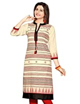 Khadi Jute Long Sleeves Kurtis(Size : XXX-Large)