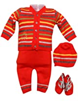 Amity Anchor Kids Warm Wear Set (AA14-15469_3-6 Months_Orange)