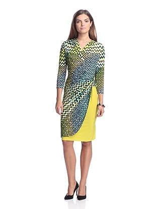 Josie Natori Women's Deco Twist Dress (Key Lime)