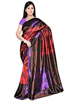 Kothari Printed Saree (VS009170_Maroon)