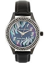 2589-04 Black / Black Analog Watch Giordano
