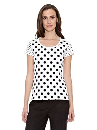 Cortefiel Camiseta Lunares (Blanco)
